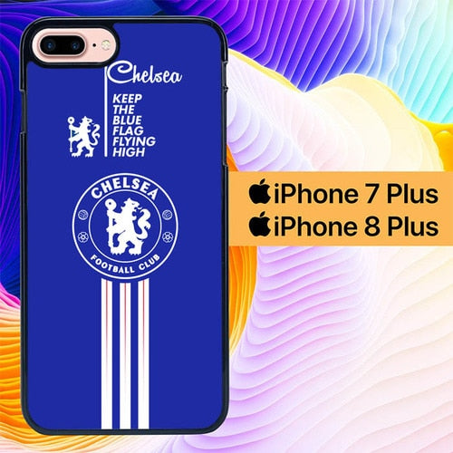 Custodia Cover iphone 7 plus 8 plus Chelsea Club Football Logo L1983 Case