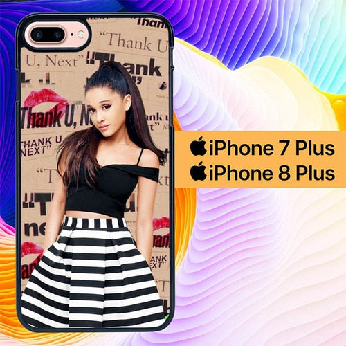 Custodia Cover iphone 7 plus 8 plus Thank U Next Ariana L2722 Case