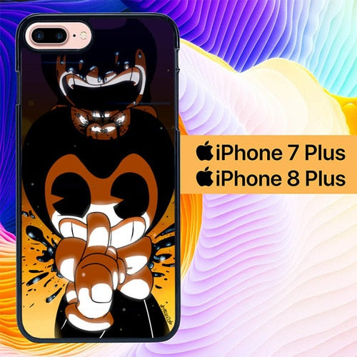 Custodia Cover iphone 7 plus 8 plus Bendy and the Ink Machine L2786 Case