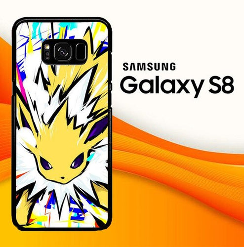 Custodia Cover samsung galaxy s8 s8 edge plus Pokemon Eevee Jolteon L2817 Case