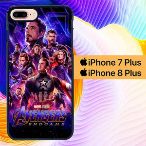 Custodia Cover iphone 7 plus 8 plus Avengers Endgame Poster L2925 Case