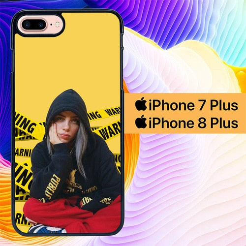 Custodia Cover iphone 7 plus 8 plus Billie Eilish L2945 Case