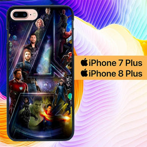 Custodia Cover iphone 7 plus 8 plus Avengers IW L3076 Case