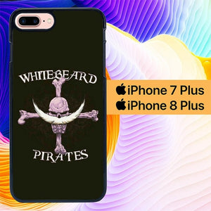Custodia Cover iphone 7 plus 8 plus Whitebeard Pirates Logo L3230 Case