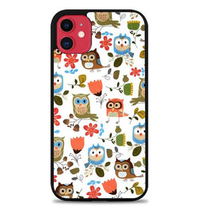 Custodia Cover iphone 11 pro max Cute Owl Pattern Y1283 Case