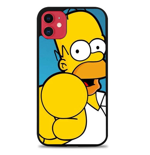 Custodia Cover iphone 11 pro max homer simpson face wallpaper Y1289 Case
