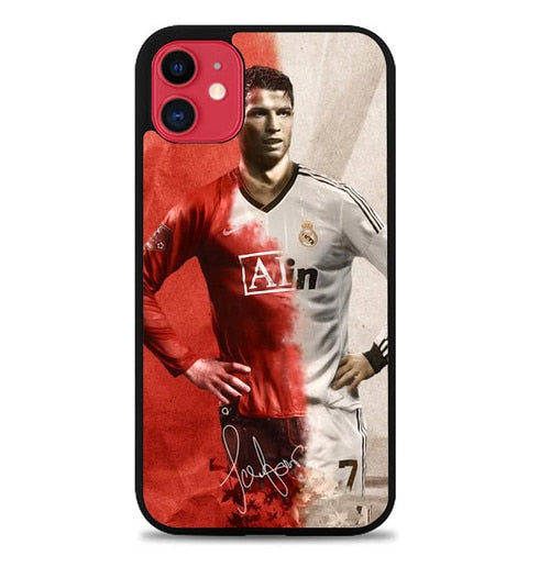 Custodia Cover iphone 11 pro max cristiano ronaldo real madrid W0015 Case