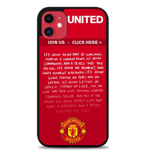 Custodia Cover iphone 11 pro max manchester united W3042 Case