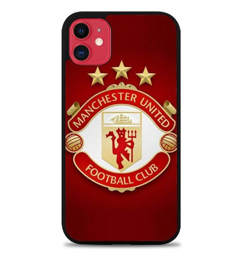 Custodia Cover iphone 11 pro max Manchester United LOGO W4954 Case