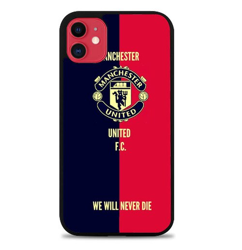 Custodia Cover iphone 11 pro max manchester united football W5297 Case