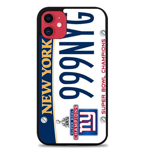 Custodia Cover iphone 11 pro max New York Giants License Plates W5370 Case