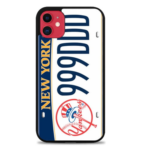 Custodia Cover iphone 11 pro max Ny Yankees License Plates W5371 Case