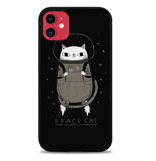 Custodia Cover iphone 11 pro max space cat W7016 Case