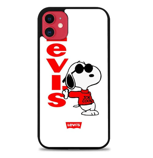 Custodia Cover iphone 11 pro max levis snoopy W8931 Case
