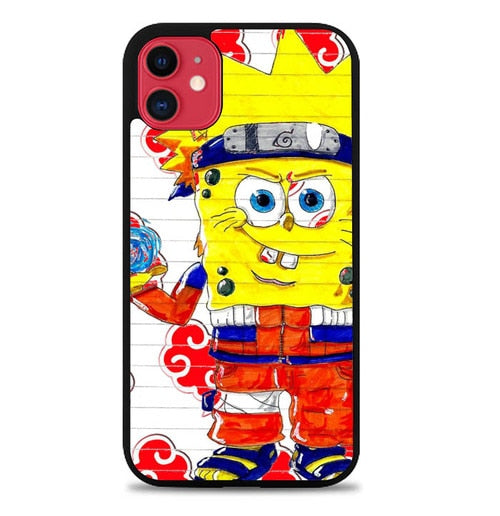 Custodia Cover iphone 11 pro max Spongebob NARUTO Y2440 Case