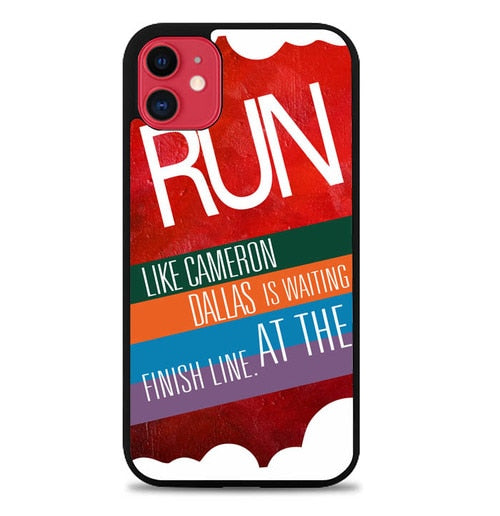 Custodia Cover iphone 11 pro max Run Like Cameron Dallas Y2603 Case