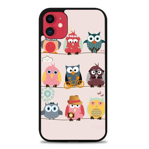 Custodia Cover iphone 11 pro max Cute Owls E0285 Case
