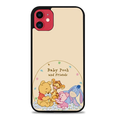 Custodia Cover iphone 11 pro max Winnie The Pooh Cartoon And Friends Cute E0992 Case