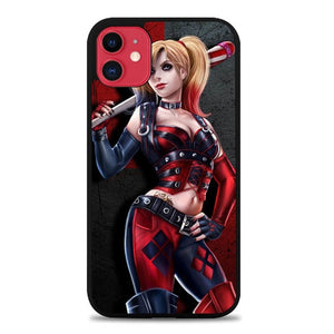 Custodia Cover iphone 11 pro max Suicide Squad Movies Harley Quinn Vector Red E1017 Case