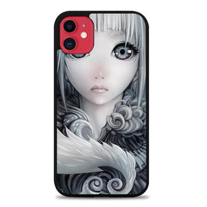 Custodia Cover iphone 11 pro max Anime Girl Sad Beauty Cartoon E1037 Case