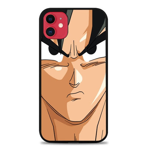 Custodia Cover iphone 11 pro max Goku Face Wallpaper Dragon Ball Z Cartoon E1187 Case