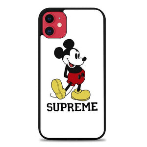 Custodia Cover iphone 11 pro max Supreme x Mickey T-Shirt E1659 Case