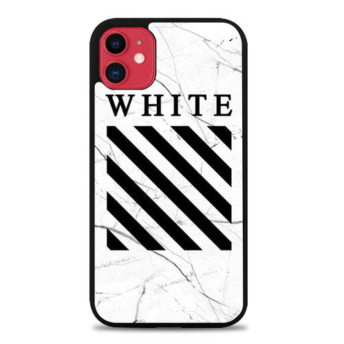 Custodia Cover iphone 11 pro max Off - White Marble White E1670 Case