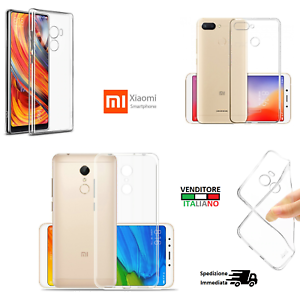 Cover custodia XIAOMI MI MIX 2 REDMI 5 MI NOTE 3 TPU gomma flip gel  silicone