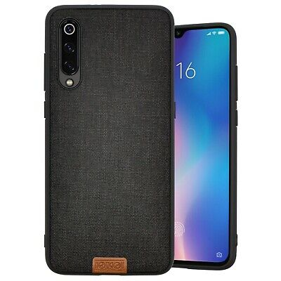 Cover Case Antiurto Spessa Xiaomi Mi 9 Originale Noziroh Denim 3D Antishock  Nero