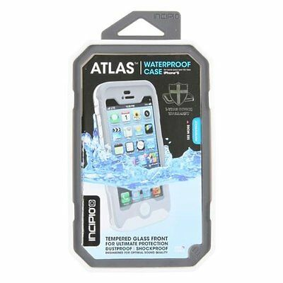 Incipio Atlas Impermeabile Vetro Temperato Custodia iPhone 5 & 5s- Bianco