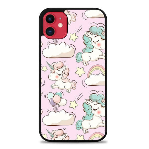 Custodia Cover iphone 11 pro max Cute Unicorn P0731 Case