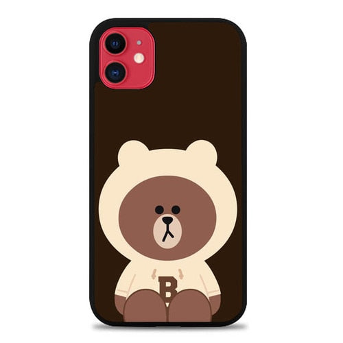 Custodia Cover iphone 11 pro max Brown P0769 Case