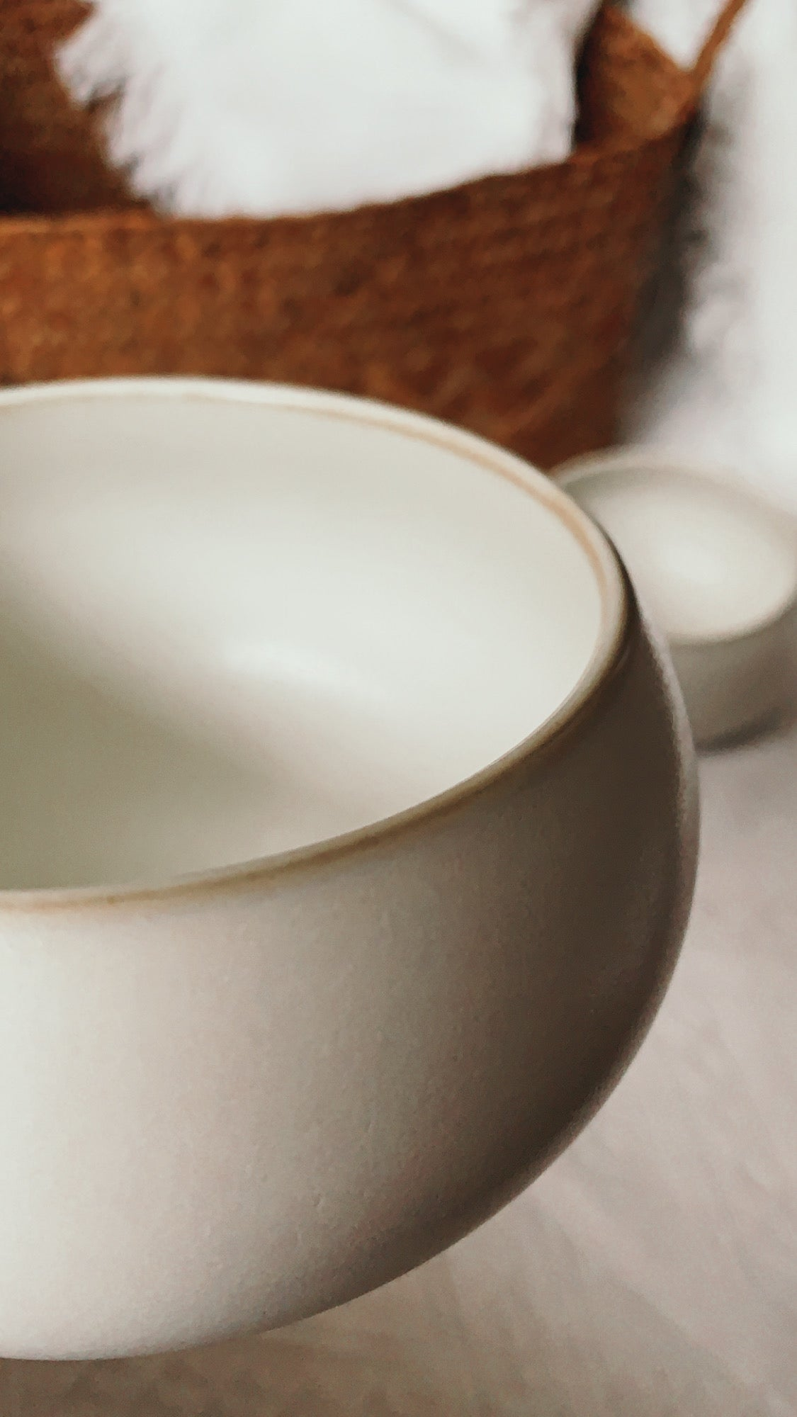 Base II Rice Bowl (Ivory)