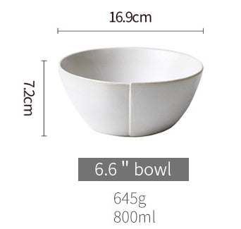 base dinnerware piece - white round medium noodle bowl
