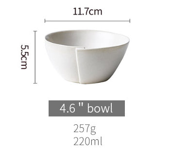 base dinnerware piece - white round small rice bowl