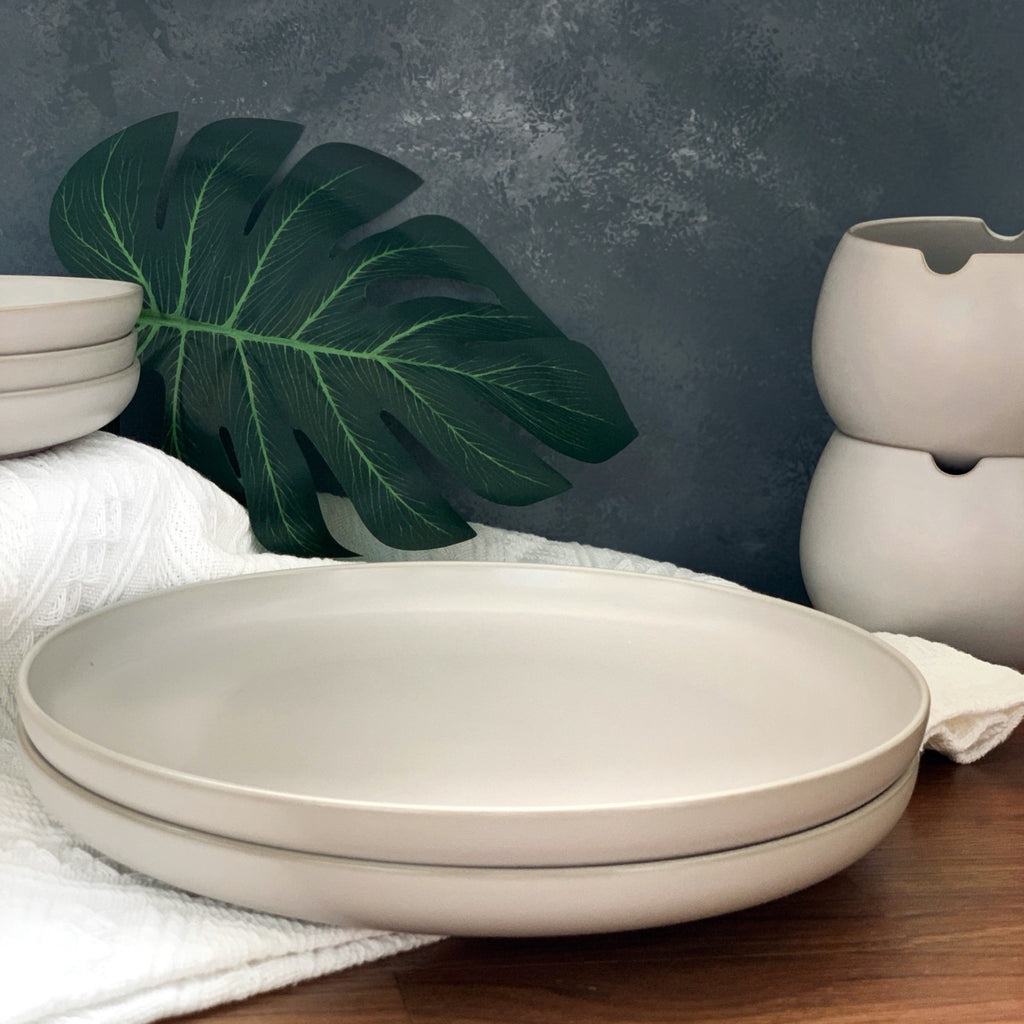 "Base II Collection - 10.35"" Serving Plate in grey - an essential basic"