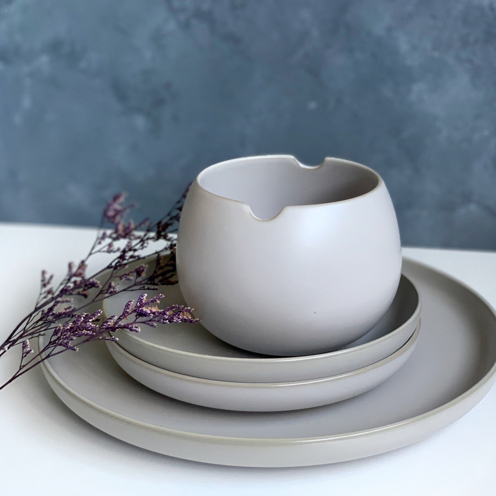 "Base II 5"" Serving Bowl (Grey)"