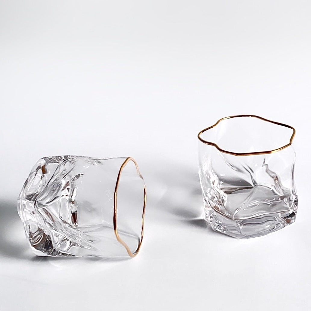 Tara Irregular Gold Rim Glass