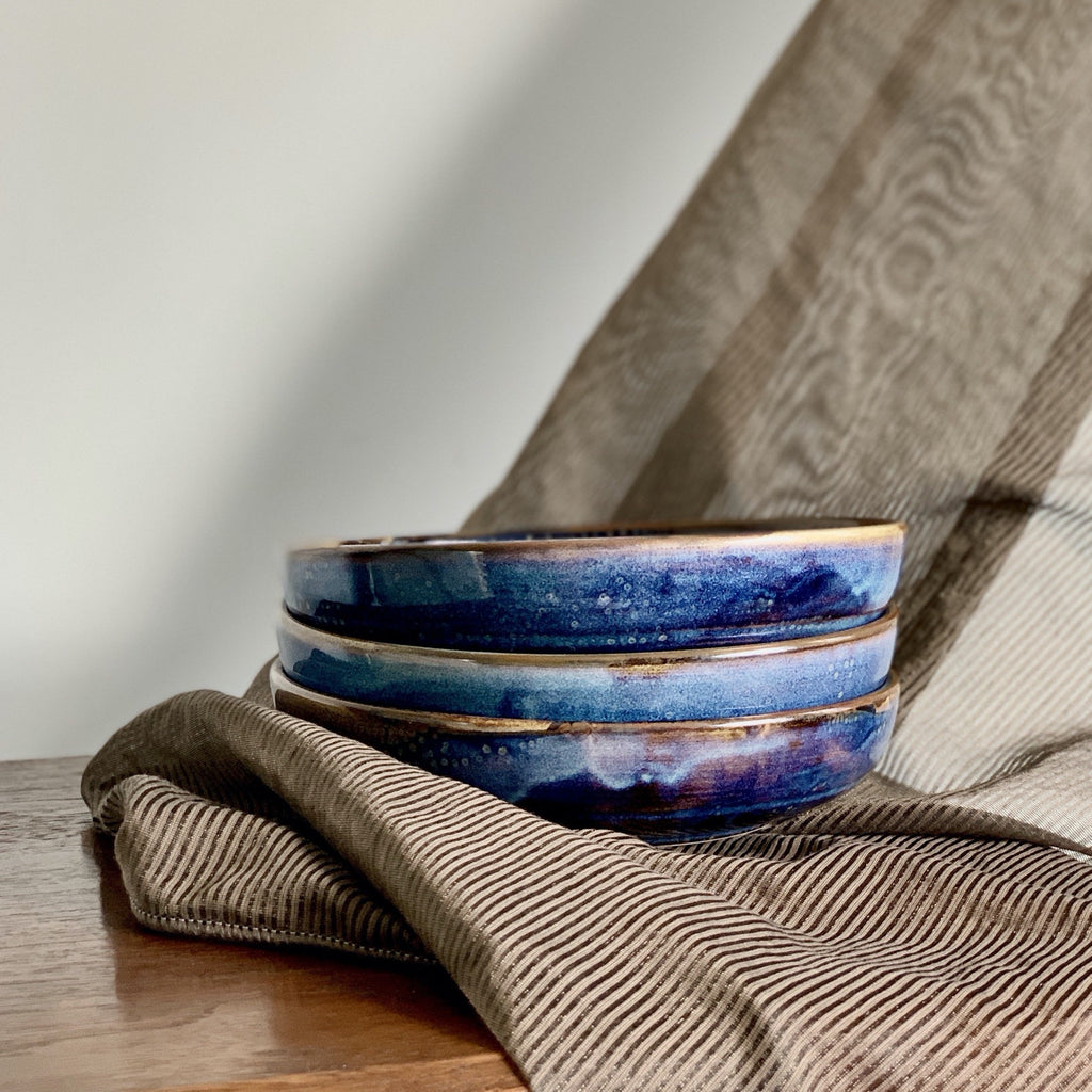 Ocean Blue Round Serving Deep Plate Dish