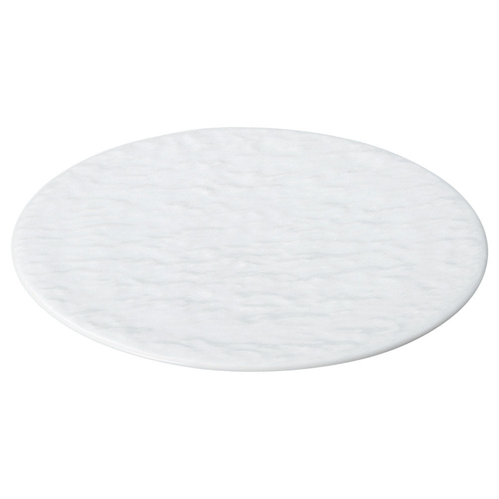 STAGE White Gloss Textured Flat Plate