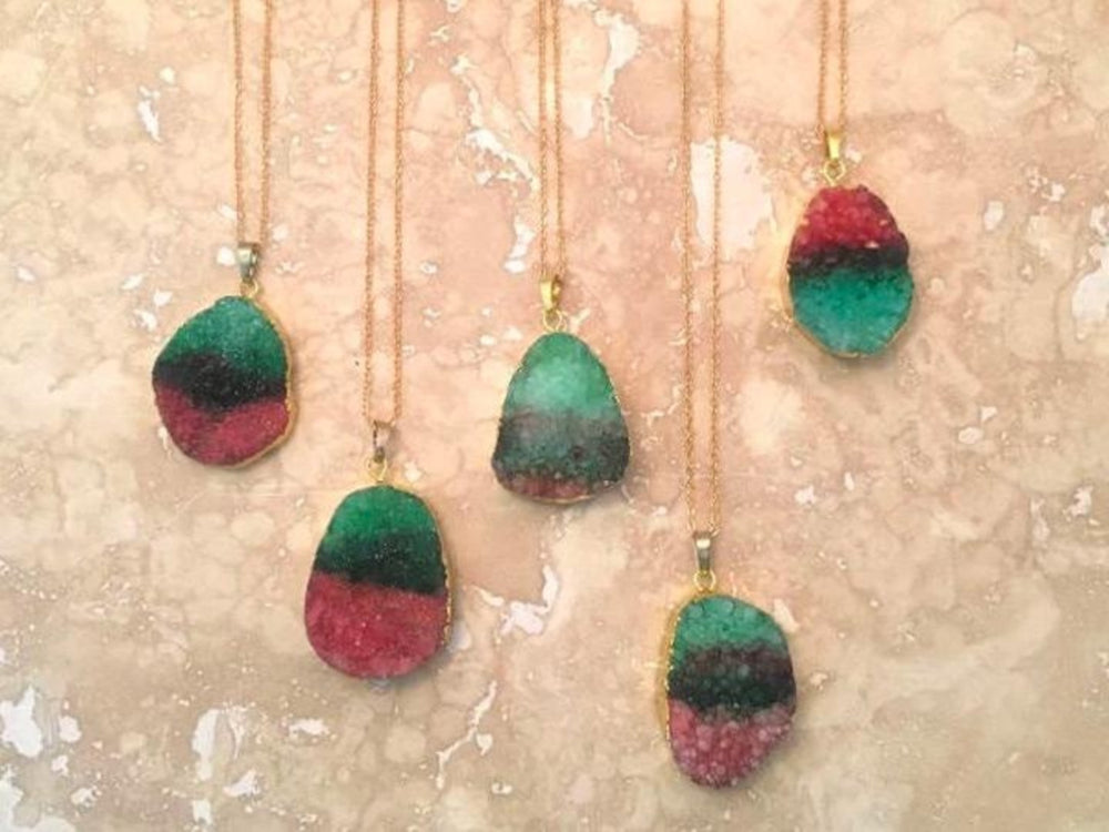 Druzy Rainbow Necklace