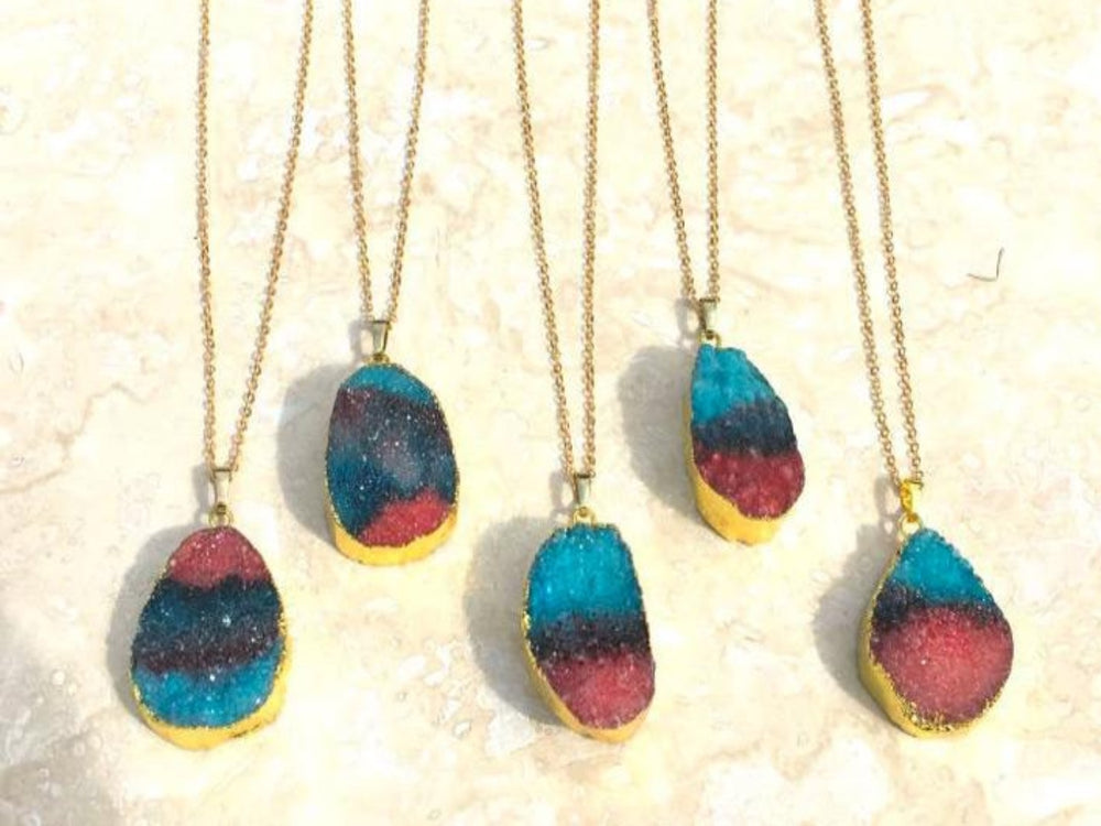 Raw Druzy Necklace