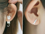 Cat Fish Stud Earrings