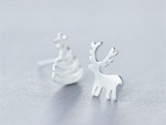 Christmas Stud Earrings by Handmade Dezigns