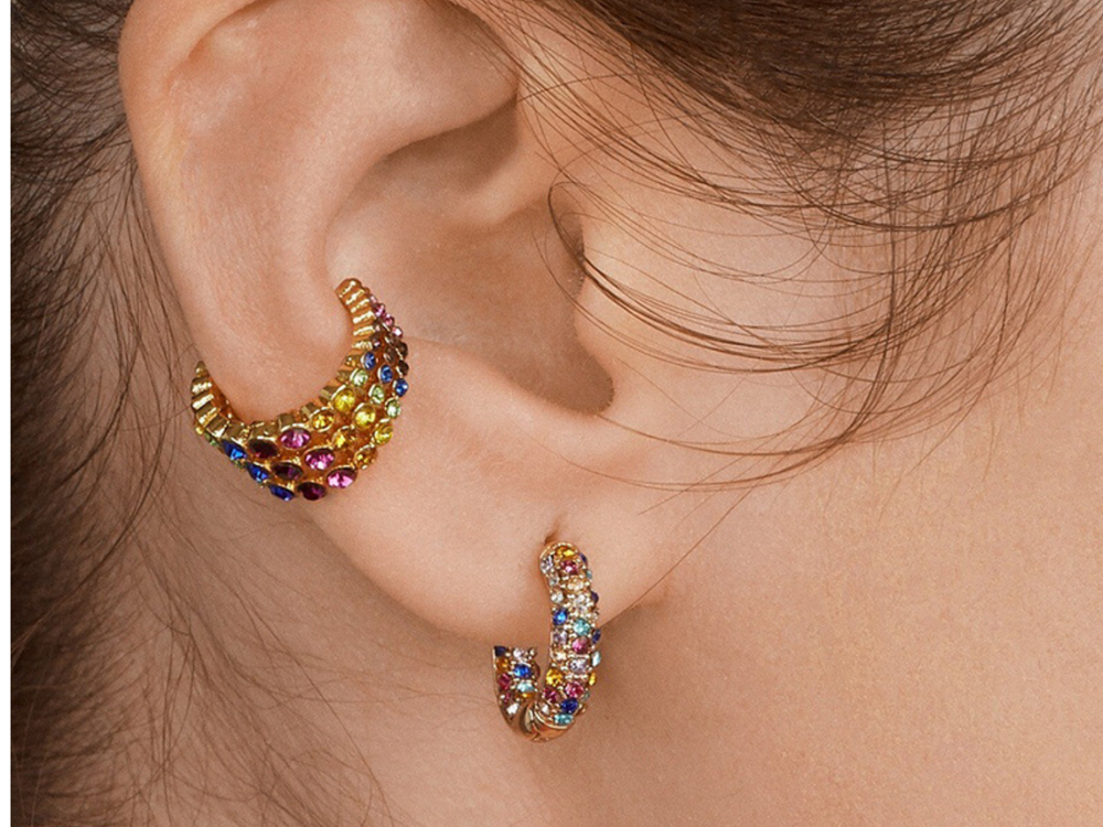 Kara Crystal Ear Cuff