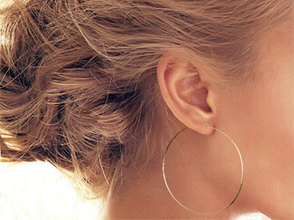 Large Endless Gold Hoop Earrings