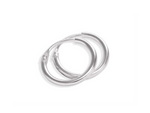 Endless Silver Hoops