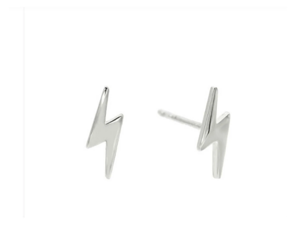 Thunderbolt Stud Earrings