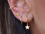 Dainty Star Hoops