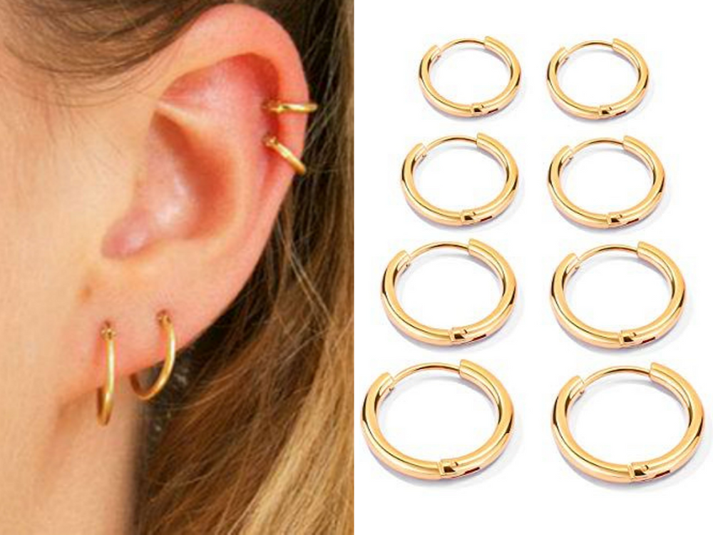 Gold Endless Hoops by Handmade Dezigns